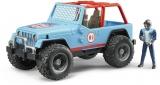 Jucarie Jeep Cross Country de curse albastru Bruder