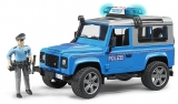 Jucarie Masina de politie Land Rover Defender cu politist si accesorii Bruder