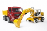 Set de joaca Camion MAN TGA si Excavator Liebherr Bruder