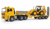 Set de joaca Camion incarcare MAN TGA si buldoexcavator JCB 4CX Bruder