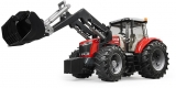 Jucarie Tractor Massey Ferguson 7624 cu incarcator frontal Bruder
