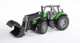 Jucarie Tractor Deutz Agrotron X720 cu incarcator frontal Bruder