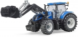 Jucarie Tractor New Holland T7 315 cu incarcator frontal Bruder