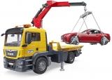 Set de joaca Masina tractare MAN TGS cu masina Roadster cu lumini si sunete Bruder