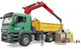 Jucarie Camion MAN TGS cu 3 containere de reciclat sticla Bruder