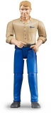 Jucarie Figurina barbat cu pantaloni albastri Bruder
