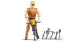 Jucarie Figurina muncitor de constructii cu accesorii Bruder