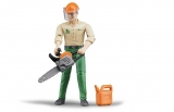 Jucarie Figurina muncitor forestier cu accesorii Bruder