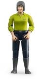 Jucarie Figurina femeie cu pantaloni albastru inchis Bruder