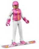 Jucarie Figurina femeie cu snowboard Bruder