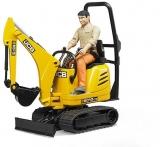 Set de joaca Micro Excavator JCB 8010 CTS si muncitor Bruder