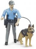Jucarie Figurina politist cu caine Bruder