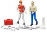 Set de joaca Figurine asistenti ambulanta si accesorii Bruder