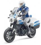 Set de joaca Motocicleta de politie Scrambler Ducati si politist Bruder