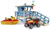 Set de joaca Statie de salvamari cu ambarcatiuni si personal Bruder