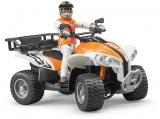 Set de joaca ATV cu sofer Bruder