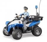 Set de joaca ATV de politie cu politist Bruder