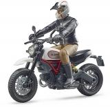 Set de joaca Motocicleta Scrambler Ducati Desert cu sofer Bruder
