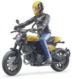 Set de joaca Motocicleta Scrambler Ducati Full Throttle cu sofer Bruder