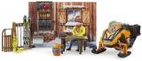 Set de joaca Cabana montana cu snowmobil Bruder