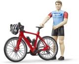 Set de joaca Figurina ciclist cu bicicleta de curse Bruder