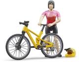 Set de joaca Figurina ciclista cu bicicleta de munte Bruder