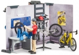 Set de joaca Service si magazin de biciclete Bruder