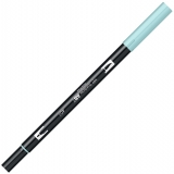 Marker caligrafic 2 in 1, ABT Dual Brush Pen, aqua Tombow