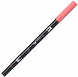 Marker caligrafic 2 in 1, ABT Dual Brush Pen, pink punch Tombow