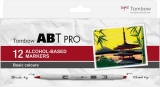 Set Markere ABT Pro 12 Basic Colors Tombow