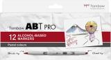 Set Markere ABT Pro 12 Pastel Colors Tombow