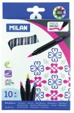 Carioca tip pensula 10 culori/set Milan