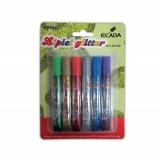 Lipici glitter 6 buc/set Ecada