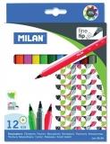 Carioca 158, 12 culori/set Milan