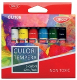 Tempera 6 culori/set, 12 ml, Daco