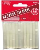 Rezerva silicon de lipit Lipiciosul mic, 7 mm, 12 buc/set Daco