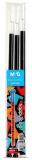 Rezerva pix cu gel, 3 bucati/set, 0.5 mm, albastru, Cats/Fellings, Happy Color