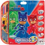 Set pentru desen 5 in 1 Giga Blocks PJ Masks, Art Greco