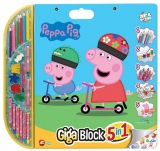 Set pentru desen 5 in 1 Giga Blocks Peppa Pig, Art Greco