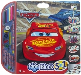 Set pentru desen 5 in 1 Giga Blocks Cars, Art Greco