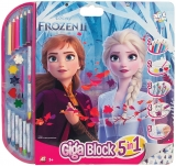 Set pentru desen 5 in 1 Giga Blocks Frozen II, Art Greco