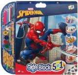 Set pentru desen 5 in 1 Giga Blocks Spiderman, Art Greco