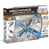 Set de joaca Laboratorul de mecanica, Avioane si Elicoptere, Clementoni