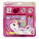 Set creativ pentru desen, model Unicorn, AS Toys