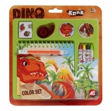 Set creativ pentru desen, model Dinos, AS Toys