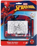 Tablita pentru scris, Magic Scribbler Spiderman Travel, Art Greco