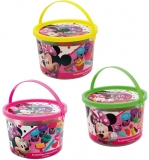 Galeata cu 4 borcanase de plastilina a cate 56 g si accesorii, diverse culori, Minnie, AS Dough