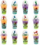 Borcanas slime Slimy cu figurina Dinozaur de colectie, diverse modele, Joker