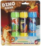 Baloane de sapun, Dinos, 3 buc/set, AS Summer Toys