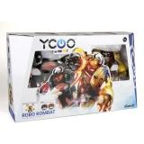 Set de joaca Roboti luptatori cu telecomanda, 2 buc/set, Robo Kombat Viking, Silverlit